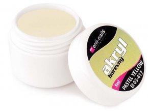 Barevný akryl - Pastel Yellow 5ml Enii-nails výprodej