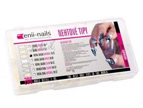 Nehtové tipy Enii Royal natural 200 ks