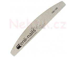 Pilník na nehty 100/100 šedý půlměsíc Enii nails