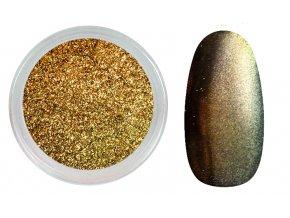 Enii nails Mirror effect - chameleon zlatý 02