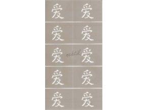 Šablonky na nehty EI láska (čínsky)