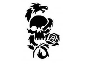 Šablona na tetování Lebka