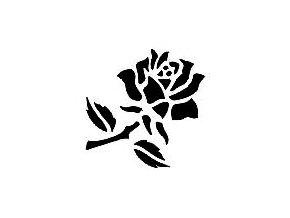 Šablona na tetování Růže