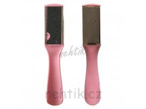 Pilník 2-stranný na chodidla růžový