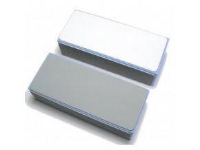 Blok na nehty čtyřstraný - modro-šedý