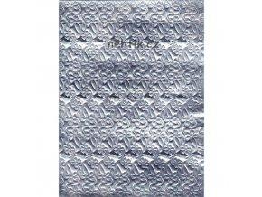 Fólie lepící stříbrná se vzorem -  F6