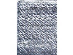 Fólie lepící stříbrná se vzorem -  F8