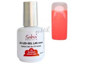 GABRA UV gel lak č. 29 - oranžovo-růžová neon