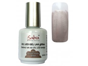 GABRA UV gel lak č. 53 - třpytivě hnědý glliter
