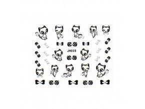 Samolepky na nehty JH035 kočičky