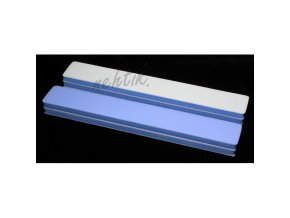 Jumbo leštička na nehty pěnová modro bílá