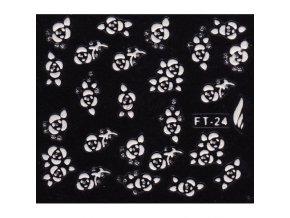 Samolepky 3D - kytička FT-24 bílý motiv