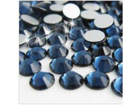 Broušené zirkonky tm.modré SS3 - 50 ks v sáčku
