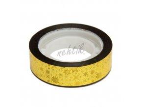 Nail Art pásek široký zlatý