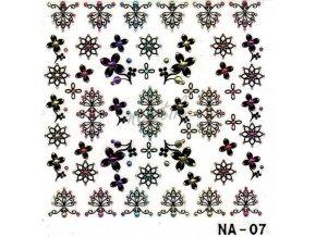 Samolepky kamínek - NA-07 černé