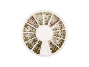 Zdobení nehtů karusel barevné kamínky Mix