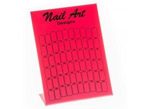 Nail Art design display bílý, růžový, černý