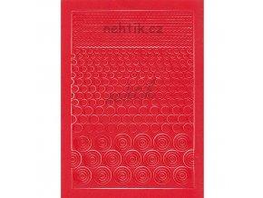 Samolepky Creativ kolečka mix - červená