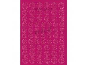 Samolepky Creativ spirálky - růžové