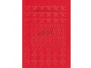 Samolepky Creativ hvězdy -  červené
