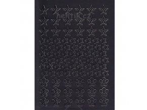 Samolepky Creativ hvězdy -  černé