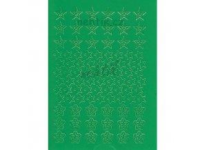 Samolepky Creativ hvězdy -  zelené