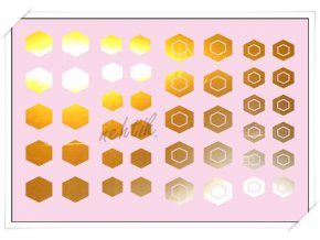 Samolepky Creativ zrcadlové šestiúhelníčky zlatá - Z-17
