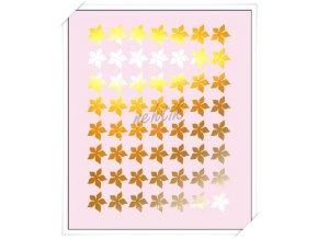 Samolepky Creativ zrcadlová kytičky zlatá - Z-33