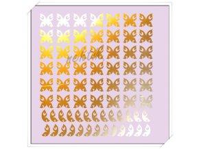 Samolepky Creativ zrcadlová Motýlci zlatá - Z-41