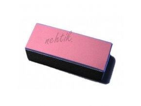 Blok na nehty čtyřstranný modro-růžový