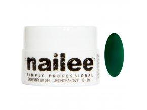Akce Barevný UV gel bez výpotku 05 tmavě zelený Nailee