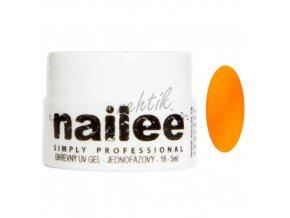 Akce Barevný UV gel bez výpotku 13 oranžový Nailee