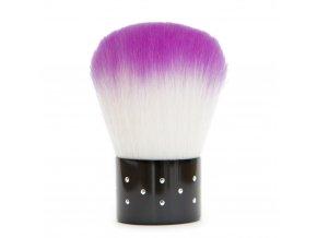 Kosmetický štětec fialový s kamínky