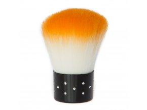 Kosmetický štětec oranžový s kamínky