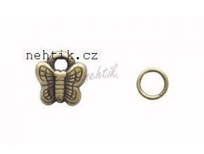 Piercing/přívěšek do nehtu měděný motýlek 1ks