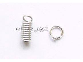 Piercing/přívěšek do nehtu stříbrná spirálka 1ks