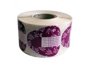 Šablony papírové fialové na modeláž nehtů 500ks