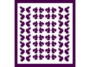 Samolepky Art na nehty lístečky tmavě fialová - 326-5