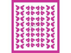Samolepky Art na nehty lístečky tm. růžové - 328-5