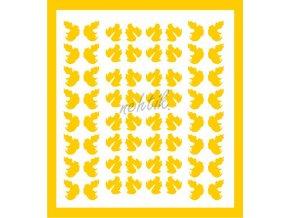 Samolepky Art na nehty lístečky žluté - 329-5