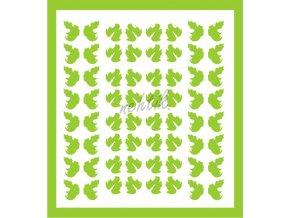 Samolepky Art na nehty lístečky sv.zelené - 331-5