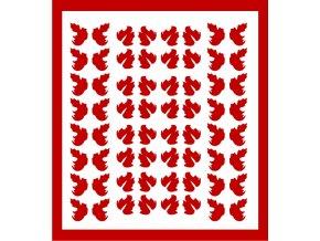 Samolepky Art na nehty lístečky červené - 334-5
