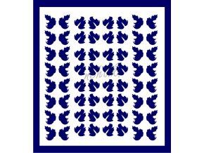 Samolepky Art na nehty lístečky tmavě modrá - 335-5