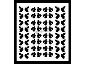 Samolepky Art na nehty lístečky černé - 337-5
