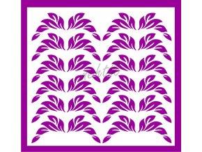 Samolepky Art na nehty lístečky tmavě fialová - 34-1