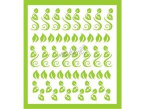 Samolepky Art na nehty lístečky sv.zelené - 342-6