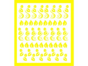 Samolepky Art na nehty lístečky žluté - 343-6