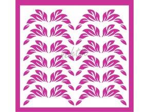 Samolepky Art na nehty lístečky tm. růžové - 35-1