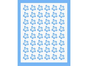 Samolepky Art na nehty kytičky modrá - 393-5