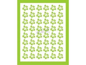 Samolepky Art na nehty kytičky zelená - 394-5